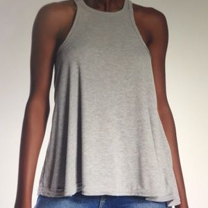 NWT Free People Long Beach Lt Grey Tank Top